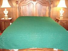 Huge Green Handmade Afghan ~ Handmade Handcrafted Crochet Afghan Throw Blanket