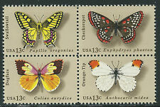 USA - MNH Block of 4  Stamps - Butterflies.......#1712 - 1716