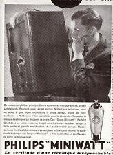 Publicité ancienne poste radio Philips 1933 issue de magazine