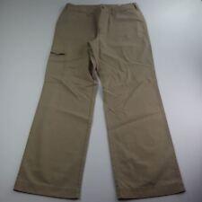 Men's Cargo Khaki Pants Zippered Pockets 100% Cotton
