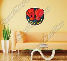"Boxing Gloves Boxer Ring Fight Pads Wall Sticker Room Interior Decor 22""X22"""