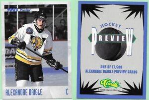 1993 Classic Games Preview Alexandre Daigle hockey card # HK1 Ottawa Senators