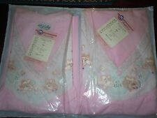 Vintage Pink Embroidered Nightgown And Night Dress Set Size L