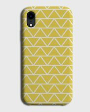 Dark Yellow Geometric Pattern Phone Case Cover Shapes Triangles Triangle G455