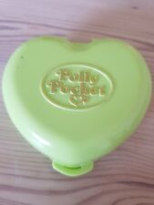 Mini Polly Pocket mini Herz Dose grün - Polly´s Pony Club - Bluebird 1989