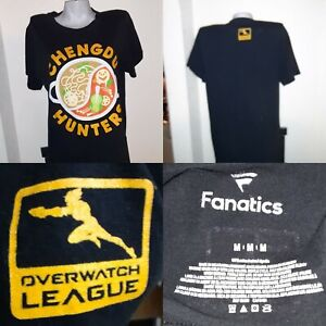 Chengdu Hunters Fanatics Branded Overwatch League  T-Shirt - Sz M 38 x 28