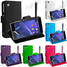 Sony Xperia Z2 II Etui Support Video Portefeuille Housses Coque Protection D6543