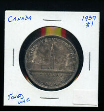 1939 Canada Silver Dollar MS62 Toned DCB8