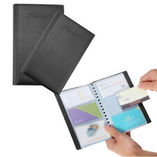 Leather 120 Cards Business ID Credit Card Holder Book Case Keeper Organizer
