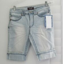 Angels Womens Cuffed Bermuda Shorts Light Wash Sz 6 - NWT