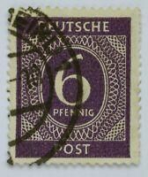 Briefmarke,Bizone 6 Pfennig,Deutsche Post,gestempelt