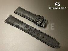 Genuine Grand Seiko 19mm Matte Black Crocodile Leather Strap for SBGW031,SBGW231