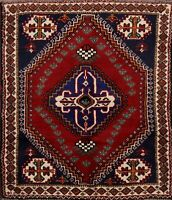 3'x5' Traditional Abadeh Geometric Area Rug Tribal Hand-Knotted Oriental Carpet
