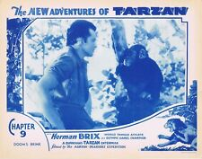 NEW ADVENTURES OF TARZAN 1935 Herman Brix Chapter 9 VINTAGE SERIAL Lobby Card 2