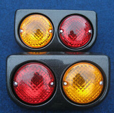 Rear Light Pods CARBON Kit Car Robin/Locost/7/Dax/Fury/Westfield/Caterham/Tomcat