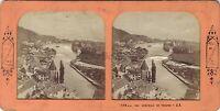Thun Suisse Stereo Colorata Da Trasparenza Vintage Albumina Ca 1865