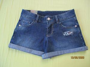Mädchen Gr. 140 Shorts, kurze Hose, Jeans,  blau NEU BENETTON