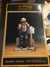 Signed Emmett Kelly Jr Signature Collection #9963 On The Road Again Ltd Ed