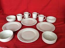 Usa 12 Pc Ivory Dinnerware Dinner Plate Stack Bowl Mug Longaberger Great Gift