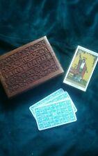 LIMITED EDITION RIDER WAITE TAROT CARDS + BEAUTIFUL DECORATIVE CARVED TAROT BOX