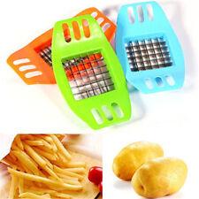 Küche Kochwerkzeug Gadget Edelstahl Frites Kartoffelschneider Slicer Choppe*BG