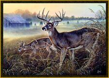 "Wildlife Buck Rug 37"" x 52"" Deer Farm Rustic Carpet Wilderness Theme Decor"