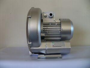 "REGENERATIVE BLOWER 0.83HP 70 CFM 60""H2O press, 220V/1phase, Side Channel Blower"