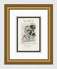 "Pretty Marc CHAGALL Exhibition Poster ""Venice Easter Holidays"" Framed SIGNED COA"