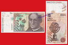 5000 pesetas 1992 COLON Serie 9A  EBC / SPAIN Pick 165 REPLACEMENT XF