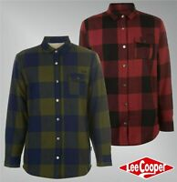 Mens Lee Cooper Long Sleeves Fleece Lined Flannel Shirt Top Sizes from S to XXL