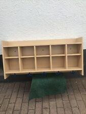 Kindergarderobe, Kindergartengaderobe, Gaderobenablage, Holz,Kindergarten, Blau