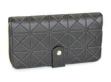 PORTAFOGLIO donna NERO borsello zip oro pochette portamonete borsa A4