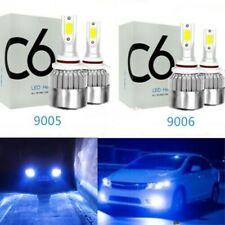 4x 8000K 9005 9006 Hi-Low Beam Headlights for Honda Accord 90-2012 Civic 2004-15