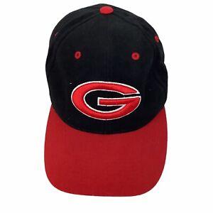 Georgia Bulldogs G Nike Team Black Red Sz 7 1/4 Wool Blend Baseball Hat Cap