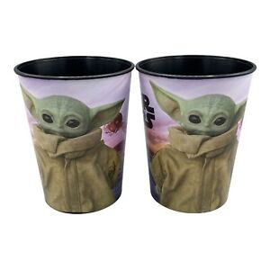 Lot of 2 - Star Wars Mandalorian The Child Yoda Stadium Cup Birthday Party