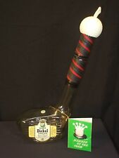 Vintage George Dickel Glass Golf Club Decanter Collector Bottle