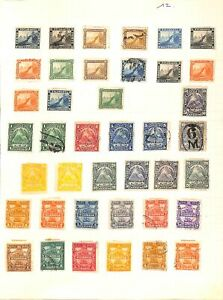 [OP6545] Nicaragua lot of stamps on 12 pages