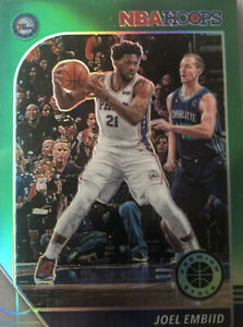 19-20 NBA Hoops Premium - Joel Embiid Green Prizm #145
