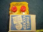 Vintage Towel Tucker Holder in Original Box Walnut Grove MN ad 2 digit phone num