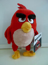 "2016 Angry Birds Movie Plush Red Stuffed Bird Animal 7"" New with Tags NWT"