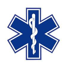 STAR OF LIFE10*10CM Highly REFLECTIVE Decal - EMS EMT PARAMEDIC Star of Life