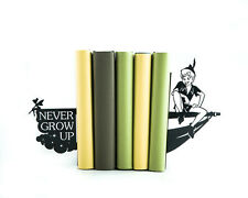 "Peter Pan ""Never Grow Up"" - steel bookends - 8.2x3.9x3,9 inches (21,6x10x10 cm)"