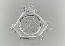 """Vintage 24% Lead Crystal From """"EVITA"""" Naked Mother Nature Ornament"""