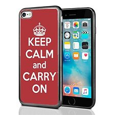 Red Keep Calm and Carry On For Iphone 7 (2016) & Iphone 8 (2017) Case Cover