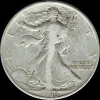 "A 1943 P Walking Liberty Half Dollar 90% SILVER US Mint ""Average Circulation"""