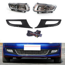 Kit Fit For VW POLO 11-13 Front Grille + Fog Light With Wire 12 Top ABS
