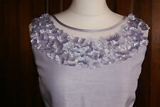 Jacques Vert Dress Lilac Shimmer Flower Wedding Mother of Bride BNWT UK 12 US 8