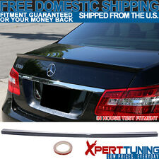 Fit For 10-16 Benz E-Class W212 4Dr Sedan AMG Style #040 Black Trunk Spoiler