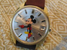New ListingMen's Helbros Vintage Electronic Mickey Mouse Wristwatch, running, Date, Rare