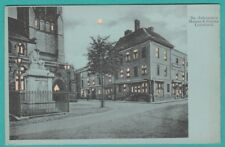 Staffordshire Lichfield Hold To Light Dr Johnson's House & Statue Old Postcard